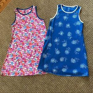 Two Girls Size 10/12 Lands End Tank Dresses